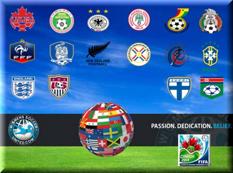 16 Teams Qualified For The FIFA U-20 Women's World Cup 2014 In Canada
