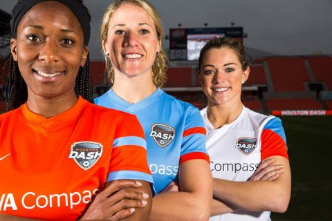 Houston Dash unveil 2014 jerseys ahead of the new National Women's Soccer League (NWSL) season!