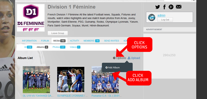Step 3 upload photo to Women's Soccer United