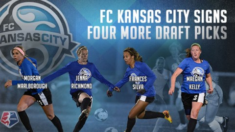 FC Kansas City signs four more draft picks ahead of the NWSL 2014 season
