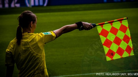 Referee and assistant referees for the Algarve Cup 2014