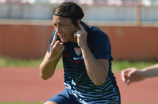Abby Wambach warm-up Algarve Cup 2014
