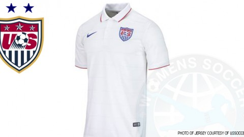 2014 Men's and Women's New Home Jersey Features Classic All-White Design