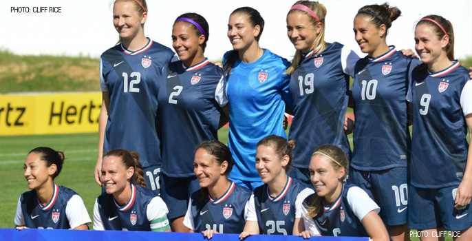 USA Women's National Soccer Team 2014