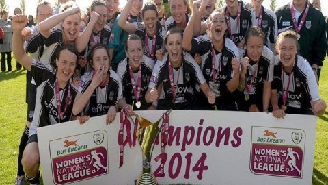 Raheny United win Bus Eireann Women's National Football League 2014