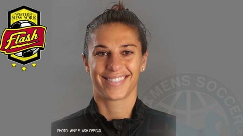 WNY Flash midfielder Carli Lloyd has been voted the NWSL Player of the Week