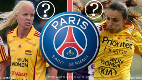 Caroline Seger and Marta linked to French club PSG
