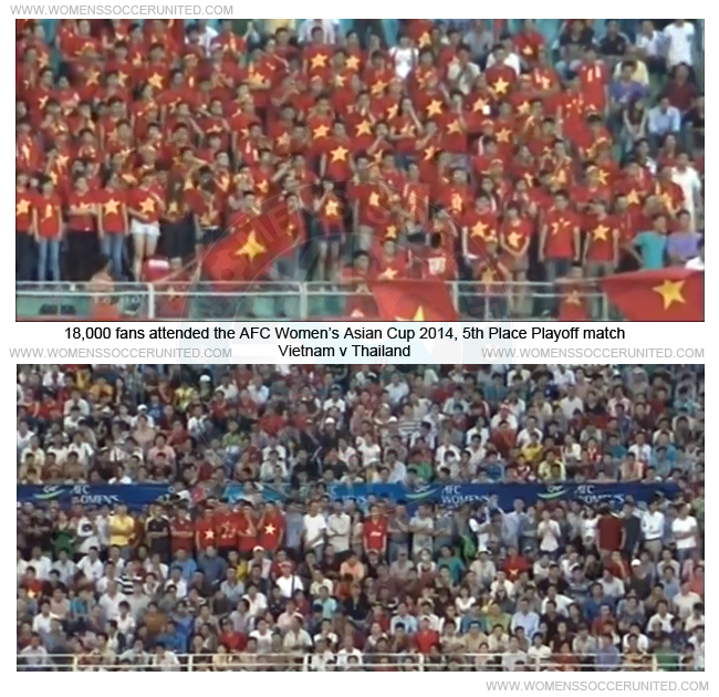 AFC Women's Asian Cup 2014 crowd