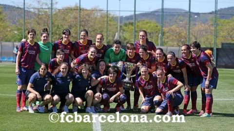FC Barcelona Women win the Spanish Primera División 2014