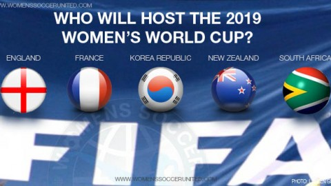 England, France, Korea Republic, New Zealand and South Africa declare interest in hosting the FIFA Women's World Cup 2019
