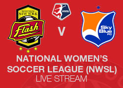 WNY Flash v Sky Blue FC 2014 NWSL live broadcast
