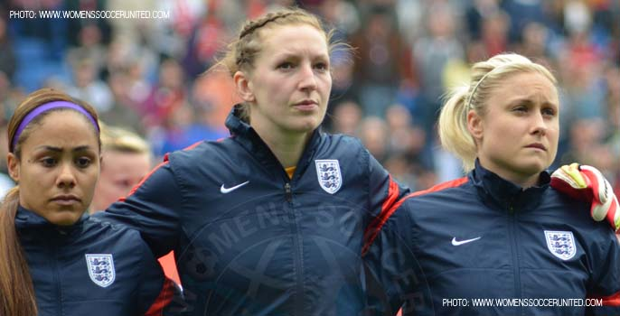 Alex Scott, Siobhan Chamberlain, Steph Houghton, England Women's national football team