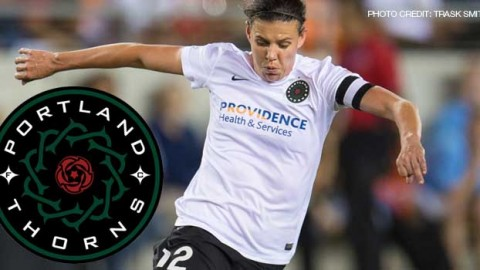 Portland Thorns FC forward Christine Sinclair has been voted the NWSL Player of the Week