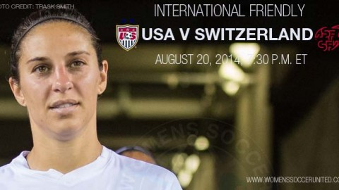 USWNT to Face Switzerland in Cary, North Carolina, on August 20