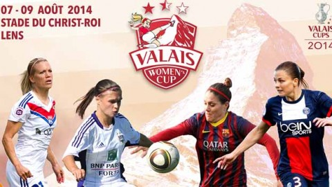 Lyon, Barcelona, PSG and RSC Anderlecht will contest the 2014 Valais Women's Cup