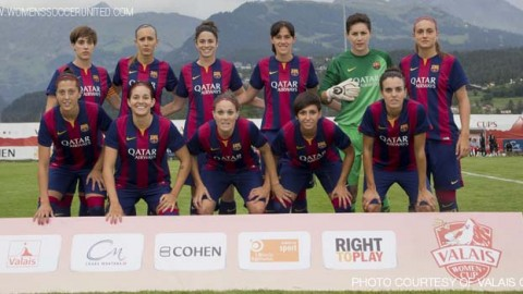 FC Barcelona beat RSC Anderlecht 6-1 in the Valais Women's Cup 3rd Place playoff