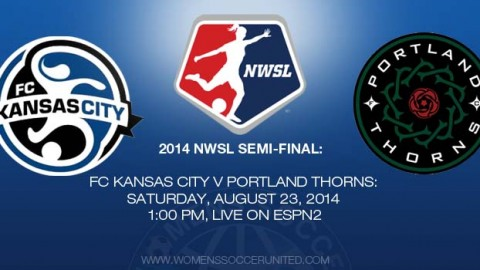 FC Kansas City Host Portland Thorns FC in 2014 NWSL Semifinal