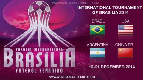 Brazil, USA, China PR and Argentina will contest the 2014 International Tournament of Brasilia