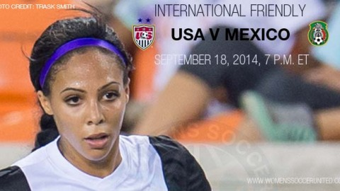 USWNT to Face Mexico on Sept. 18 in Rochester, New York, in Final Warm-Up for Women's World Cup Qualifying
