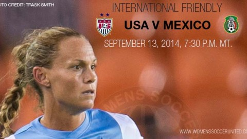 USA Women's National Team to Face Mexico on Sept. 13 in Salt Lake City