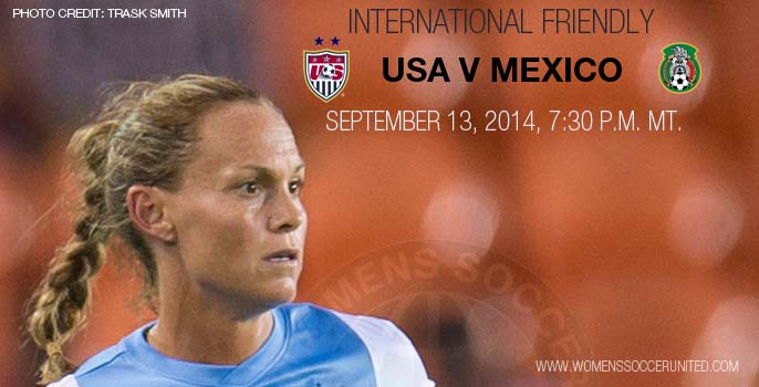 USA v Mexico International women's soccer friendly fixture