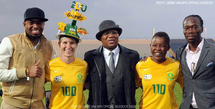 Janine Van Wyk 100 Caps South Africa women's national football team