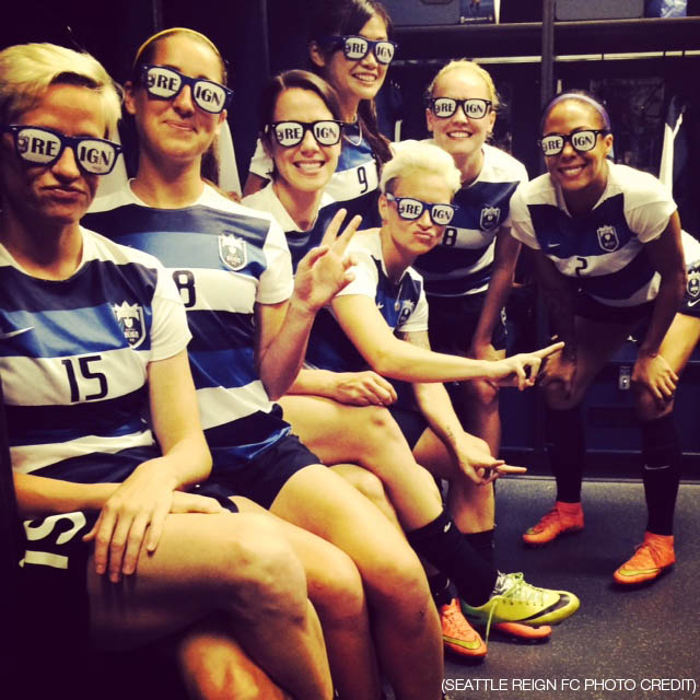 Seattle Reign FC teammates