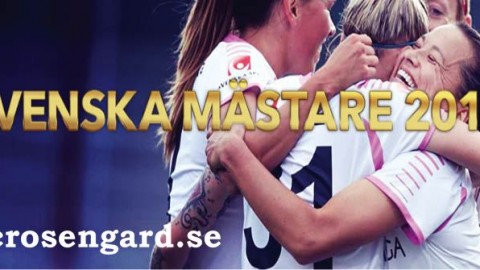FC Rosengård wins the Swedish Damallsvenskan League Title 2014