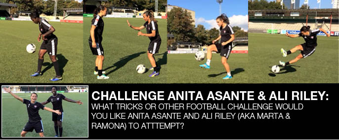 Challenge Anita Asante and Ali Riley