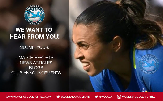 Submit your women's football content to Women's Soccer United