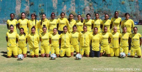 Ecuador announces squad to participate in the 2014 Copa América Femenina