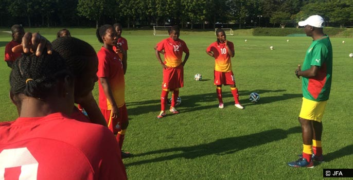 Ghana Women's National Football team training