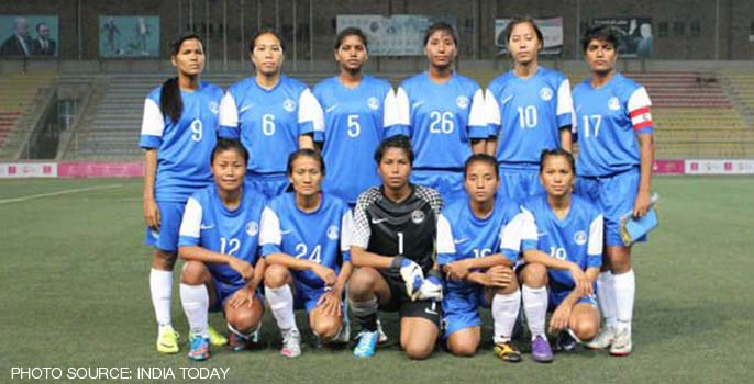India Women's National Football team win opening Asian Games 2014 match