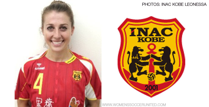 Chelsea Stewart of the Boston Breakers signs for Japanese club INAC Kobe Leonessa