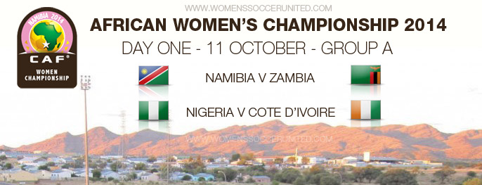 African Women's Championship 2014 day one