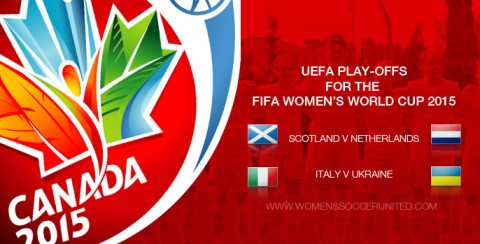 UEFA play-offs for the FIFA Women's World Cup 2015