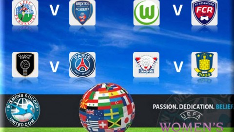 UEFA Women's Champions League 2015 Quarter Final Match Fixtures