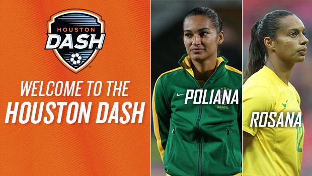 Houston Dash sign Brazilian internationals Rosana and Poliana