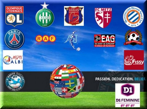 French Féminine Division 1 Match Results 7th December 2014