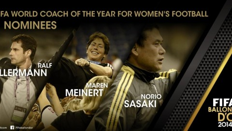 Kellermann, Meinert and Sasaki are FIFA World Coach of the Year for Women's Football finalists