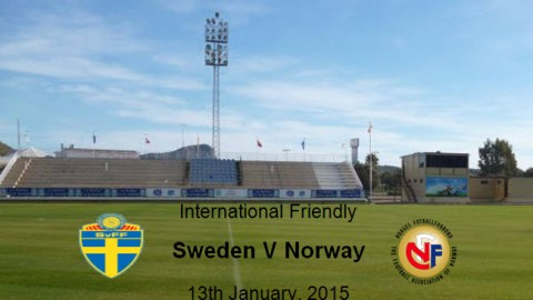 Sweden V Norway – International Friendly 13th January 2015