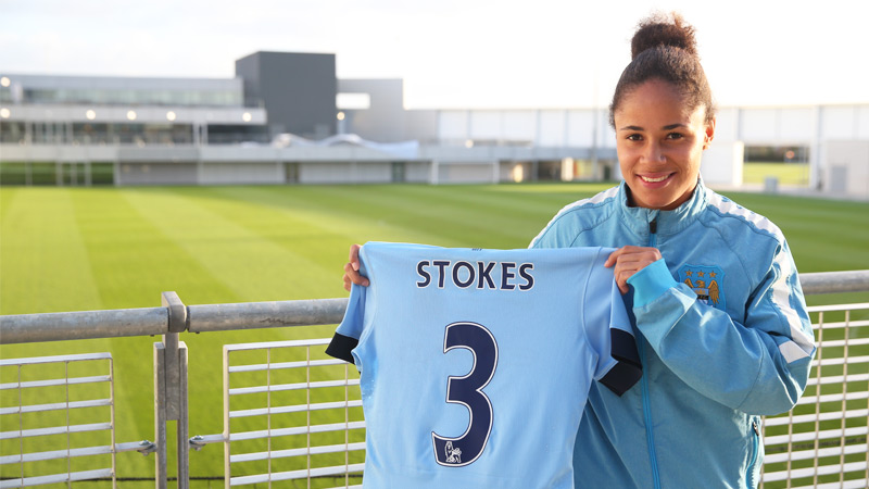 Manchester City sign Demi Stokes on a three-year deal