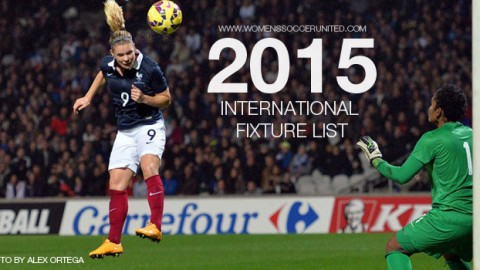 International women's football fixtures 2015