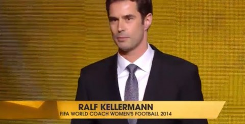 Ralf Kellermann wins FIFA World Coach of the Year for Women's Football 2014