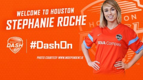 Houston Dash sign Irish international forward Stephanie Roche