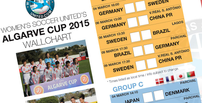 Algarve Cup 2015 Wallchart - Free download