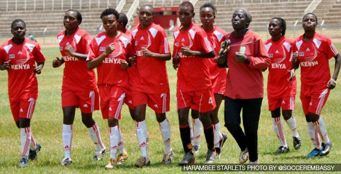 Kenya's Harambee Starlets International Friendly
