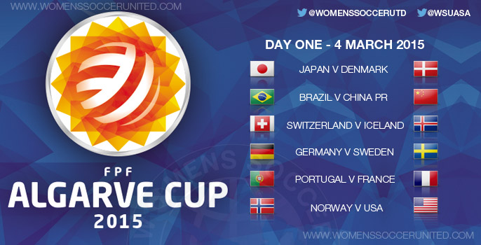 Algarve Cup 2015 - Day One, Group stage