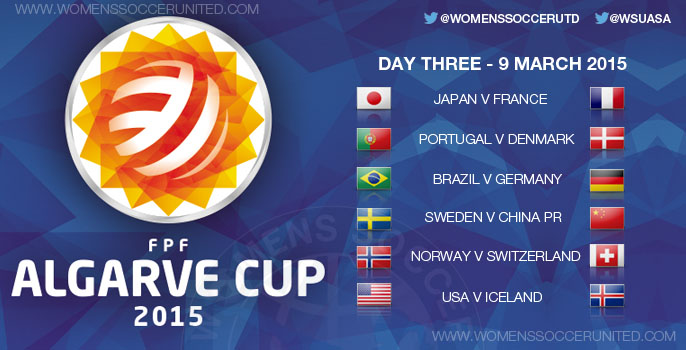 Algarve Cup 2015 - Day Three, Group stage