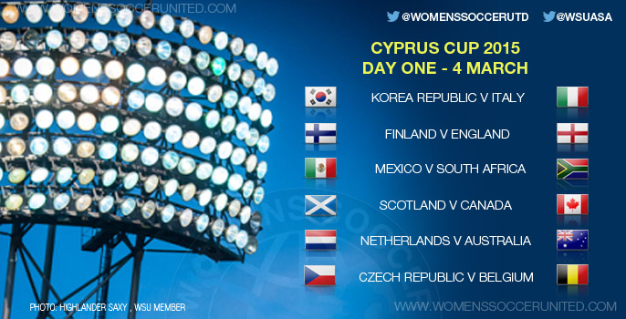 Cyprus Cup 2015 - Day One, Group stage